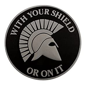 ACU Gray Spartan Helmet WITH YOUR SHIELD OR ON IT PVC 3D Gomme Velcro Écusson Patch