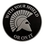 ACU Gray Spartan Helmet WITH YOUR SHIELD OR ON IT PVC 3D Gomma Hook-and-Loop Toppa Patch