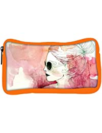 Snoogg Eco Friendly Canvas Woman With Sunglasses Designer Student Pen Pencil Case Coin Purse Pouch Cosmetic Makeup...