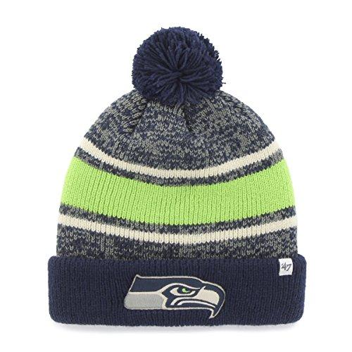 NFL '47Fairfax (Cuff Knit Hat mit Pom, Unisex, Light Navy