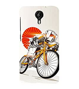 Cycle sport 3D Hard Polycarbonate Designer Back Case Cover for Micromax Canvas Nitro 4G E455