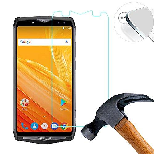 Lusee 2 X Pack Panzerglasfolie für Ulefone Power 5 6.0 Zoll Tempered Glass Hartglas Schutzfolie Folie Bildschirmschutz 9H (Nur den flachen Teil abdecken)