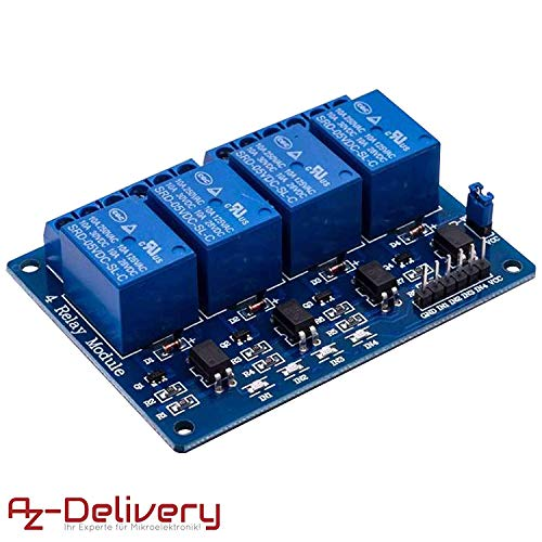 AZDelivery ⭐⭐⭐⭐⭐ 4-Relais Modul 5V mit Optokoppler Low-Level-Trigger für Arduino -