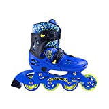 Spokey Freestyle Verstellbare Inlineskates Skate Inlineskate Inliner Skates für Kinder Kinderinliner Buddy (Blau, 30-33)