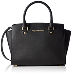 Idea Regalo - Michael Kors Selma Medium - Borse a secchiello Donna, Nero (Black), 10x20x33 cm (W x H L)