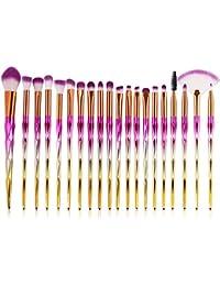 20PCS Pinceles de maquillaje Pincel de maquillaje profesional Conjunto de pinceles de maquillaje de fabricantes de inicio Pinceles de maquillaje profesional Pestañas Sombra de ojos Mezcla Pincel de la