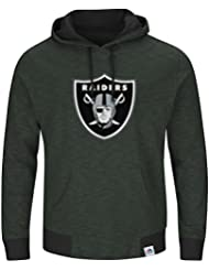 "Oakland Raiders Majestic NFL ""Gameday 2"" Men's Pullover Hooded Sweatshirt Chemise"