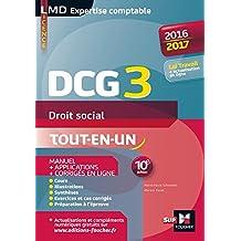 DCG 3 - Droit social - Manuel et applications - 10e édition - Millésime 2016-2017