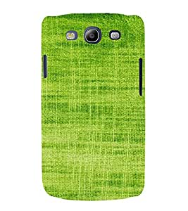PrintVisa Green Knitted Cloth Design 3D Hard Polycarbonate Designer Back Case Cover for Samsung Galaxy S3