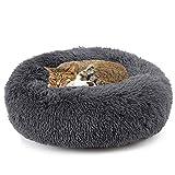 Katzenbett, Plüsch Weich Runden Katze Schlafen Bett/Klein Hund Bett/Haustierbett/katzenbettchen/Betten für Katzen