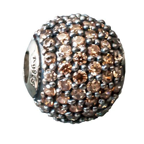 Thomas Sabo Brauner Zucker Bead Silber mit champagnerfarbenem Zirkonia K0088-643-3