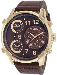 JBW-JUST BLING  J6248LE - Reloj de cuarzo para hombre, con correa de cuero, color marrón
