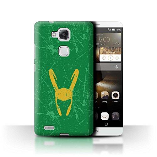 Stuff4® Hülle/Case für Huawei Ascend Mate7 / Loki Helm Inspiriert Muster/Antiheld Comic-Kunst Kollektion