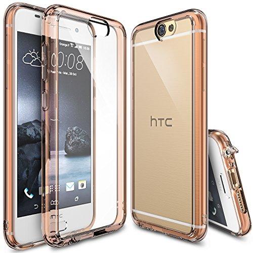 HTC One A9 Hülle, Ringke FUSION kristallklarer PC TPU Dämpfer (Fall geschützt/ Schock Absorbtions-Technologie) für das HTC One A9- Rosengold