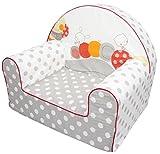 Bubaba - Kindersessel in 12 Motiven, EU Produkt, formstabiler Schaumsoff - extra leicht nur 1kg, Model:Grey Caterpillar