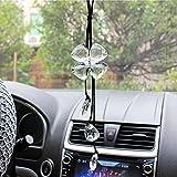 Cogeek quadrifoglio con accessori interni auto ciondoli pendente per auto retrovisore decorazione da appendere