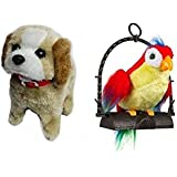A R Enterprises Musical Jumping Dog With Talking Parrot Toy For Kids