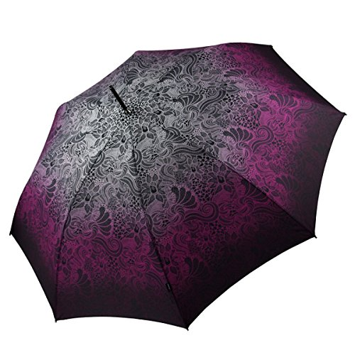 Knirps Regenschirm Stockschirm Damen, violett