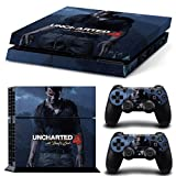 #5: Elton Uncharted 4 PlayStation 4 Limited Edition 3M Sticker Skin For PS4 Console And Controllers