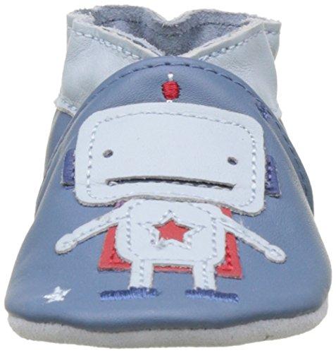 Robeez Baby Jungen Space Robot Krabbelschuhe Blau (Bleu)