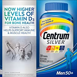 Centrum Silver Men 50+ Multivitamin - 250 Tablets