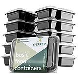 FITPREP 2-Fach Meal Prep Container 10 Pack Modell 2019 für Meal Prep empfohlen - inkl. schönem Rezeptheft- Nicht 100% auslaufsicher