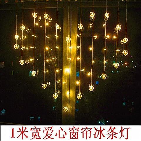 Le luci LED luci flash stringa nel riquadro flottante luce negozio decorazione lampada amore a forma di cuore ice bar , tende luminose 7 Colori di amore - Cuore Coperto