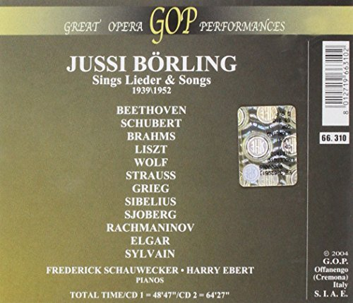 Jussi Bjoerling-Lieder Recital [Import anglais]