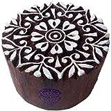 Royal Kraft Jaipuri Printing Blocks Round Flower Shapes Wooden Stamps