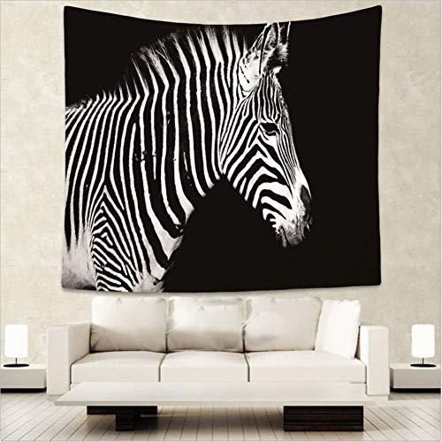 MMLUCK Startseite Wilde Tiere Zebra Tiger Print Tapisserie Hippie Wandbehang böhmische Tagesdecke Wohnheim Dekor Wandteppiche 130cmX150cm