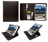 AlpenTab Almrausch 10.1 Inch Tablet Kohlen Schwarz Universal 360 Grad Wallet Schutzhülle Folio mit Kartensteckplätzen ( 9 - 10 zoll ) von Sweet Tech
