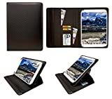 Sweet Tech Wortmann Terra Pad 1003 Android Tablet Kohlen Schwarz Universal 360 Grad Wallet Schutzhülle Folio mit Kartensteckplätzen (9-10 Zoll