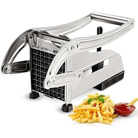 CUGLB Taglia patatine fritte con lama in acciaio INOX, French Fry Cutter Chopper Affetta verdure