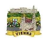 zamonji Schloss Schönbrunn, Wien 3D Harz Kühlschrankmagnet Souvenir Reise-Aufkleber Tourist Geschenk aus Republik Österreich