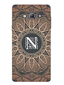 Samsung A7 2015 Back Cover - Initial N - Classy And Personalised - Designer Printed Hard Shell Case