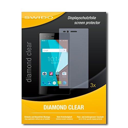 SWIDO 3 x Schutzfolie Siswoo A5 Bildschirmschutz Folie DiamondClear unsichtbar
