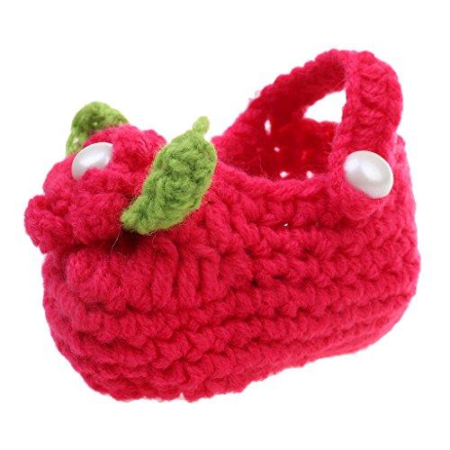 Baby Baumwolle Anti-Rutsch Winter herbst Schuhe Lauflernschuhe mit Blume - Rosa, 8-11cm Rot