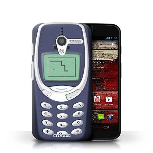 Kobalt® Imprimé Etui / Coque pour Motorola MOTO X / Nokia 8210 rouge conception / Série Portables rétro Nokia 3310 bleu