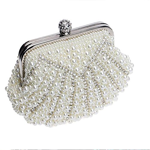 NAOMIIII Handtasche Frauen Kleine Perlen Beige Damen Hochzeit Diamant Brautparty Die UqwPUxBrO