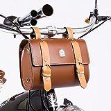 Pelle Moda Prima leva dell'unità di elaborazione dell'annata sacchetto della bici telaio o manubrio Strumenti Bag