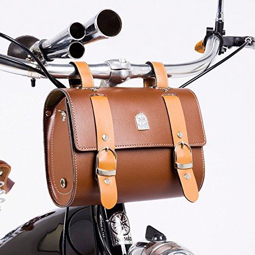 Art- und Weiseweinlese-vorderer Hebel-PU-Beutel-Fahrrad-Rahmen oder Lenkstange-Werkzeug-Beutel (Cruiser-sitz-tasche)