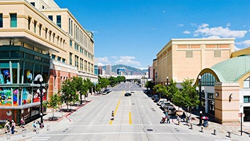 The Poster Corp Panoramic Images - Gateway Shopping Center Downtown Salt Lake City Salt Lake City Utah USA Photo Print (68,58 x 22,86 cm)