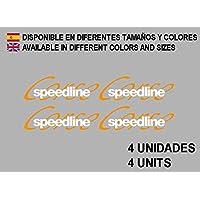 PEGATINAS SPEEDLINE CORSE LLANTA WHEEL F102 STICKERS AUFKLEBER DECALS AUTOCOLLANTS ADESIVI (BLANCO)