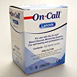 100 On Call Lancets CE Sterile Universal fit Autolet, Microlet, Beurer, Valuemed, Microlet, On Call etc..