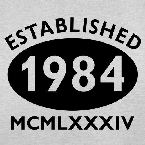 Gegründet 1984 Römische Ziffern - 33 Geburtstag - Herren T-Shirt - 13 Farben Hellgrau