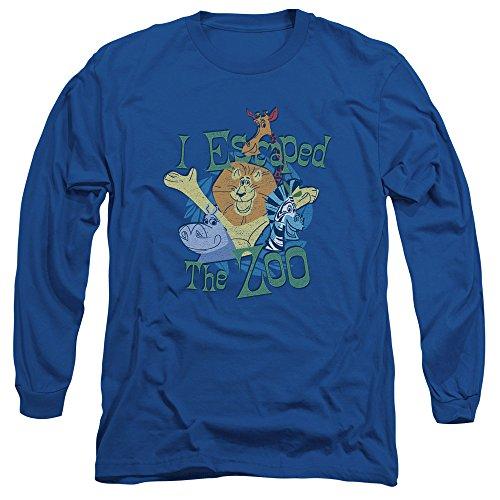 Madagascar - Herren Langarm T-Shirt Escaped Royal Blue