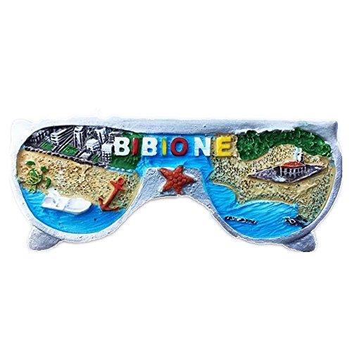 Sonnenbrille Bibione Italien World Kunstharz 3D starker Kühlschrank Magnet Souvenir Tourist Geschenk Chinesische Magnet Hand Made Craft