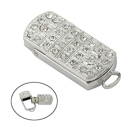 Civetman Silver Crystal Prince Charming Form 32 GB USB 2.0 Stick Memory Stick U Disk Geschenk für Mädchen Freinds