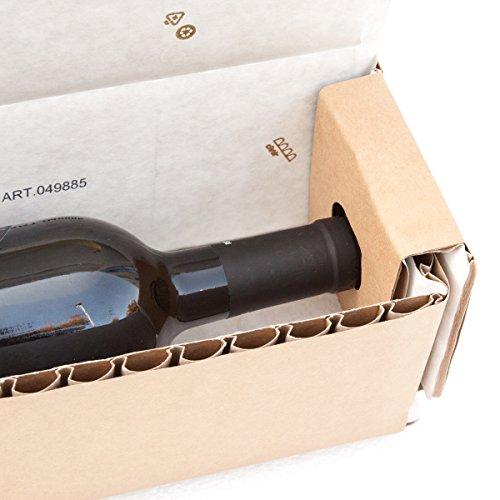 flaschen verschicken cArtù Flaschenkästen: der ökologische Behälter für Flaschen zwischen 29-30 cm groß und einem Durchmesser zwischen 7 8,5 cm. Set von 6 flachen Kartons.
