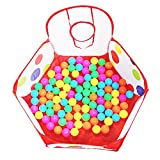 #9: Fancyku Kids Ball Pit Ball Tent Toddler Ball Pit with Red Zippered Storage Bag for Toddlers (Balls not Included) (Color 4)